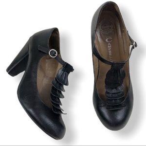 JEFFREY CAMPBELL Havana Last T-Strap frill heels